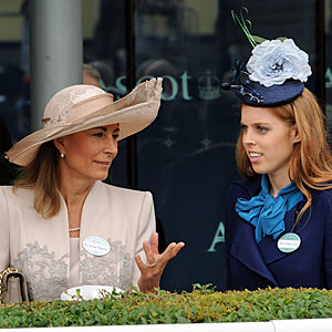 Princess Beatrice and Kate Middleton's mum get chatty at Ascot