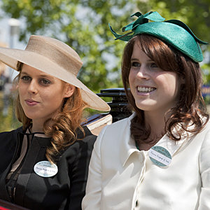 Princesses Beatrice and Eugenie head to Ascot for a day at the races