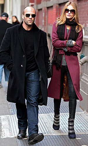Wow! Rosie Huntington-Whiteley works winter style in NYC!