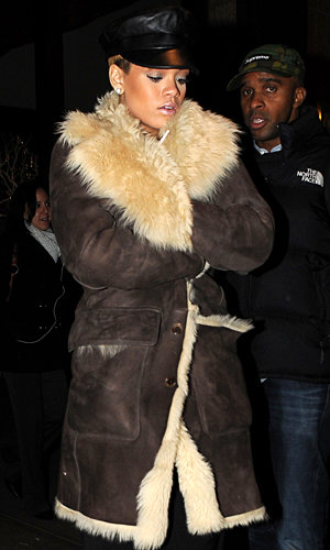 SHOP HER STYLE: Rihanna hits New York in a Diesel Black Gold winter coat