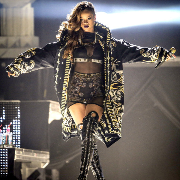Rihanna rocks the Diamonds tour in Givenchy by Riccardo Tisci