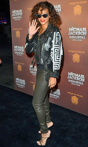Rihanna rocks out at Michael Jackson tour opening night