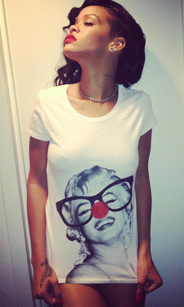 Rihanna shows support for Red Nose Day
