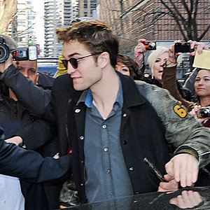 Water For Elephants star Robert Pattinson causes a fan frenzy in New York