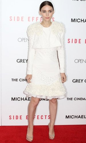 Rooney Mara wows in white at Side Effects New York premiere