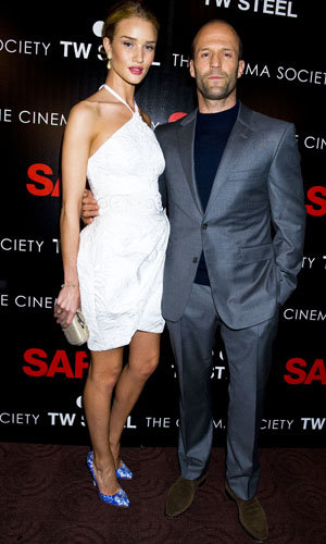 Rosie Huntington-Whitely and Jason Statham hit the Safe premiere!