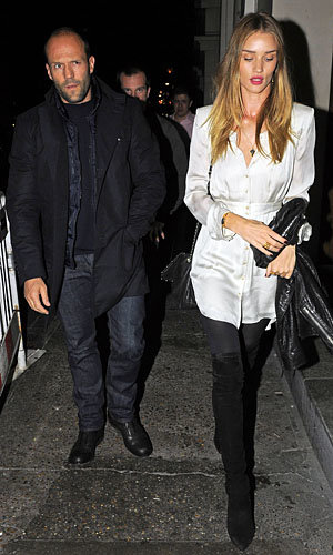 SPOTTED: Rosie Huntington-Whiteley and Jason Statham dine out in style