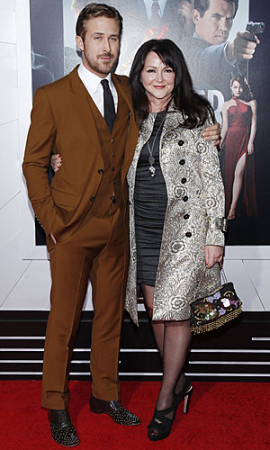 Ryan Gosling walks the red carpet with his mum at Gangster Squad premiere