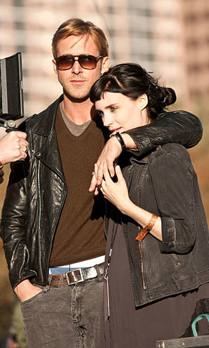 Ryan Gosling and Rooney Mara cuddle up on set of Lawless