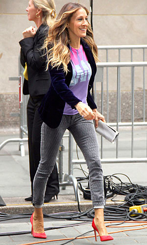 Sarah Jessica Parker styles it up in New York