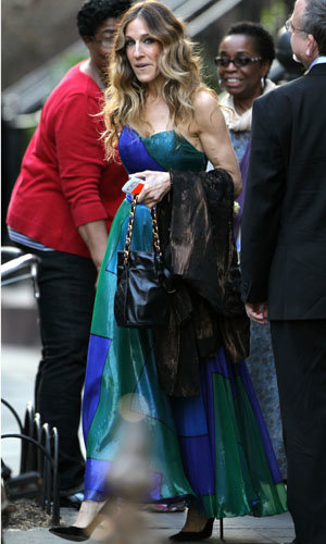 Sarah Jessica Parker is gorgeous in green!