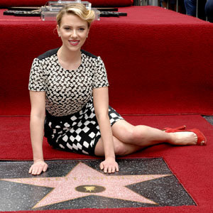 Scarlett Johansson honoured with star on Hollywood Walk of Fame!