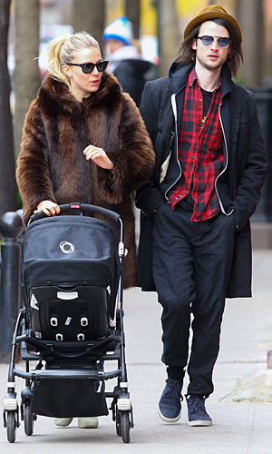 Sienna Miller makes a stylish mum on day out with baby Marlowe