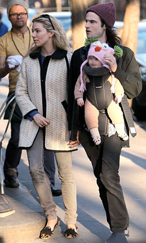Sienna Miller and Tom Sturridge take adorable baby Marlowe on family outing
