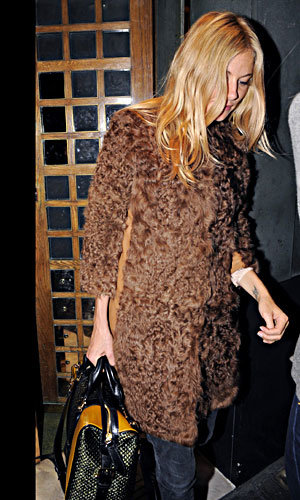 Sienna Miller gets cosy for autumn