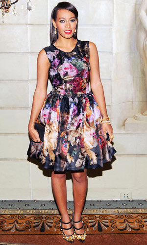 Solange Knowles goes girly at the American Ballet Theatre event
