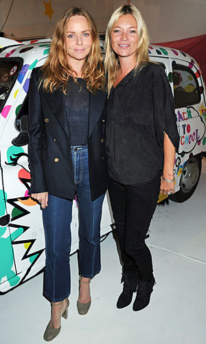 Kate Moss supports pal Stella McCartney at SS12 Kids Collection preview
