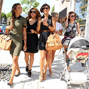 The Saturdays hit LA with baby Aoife