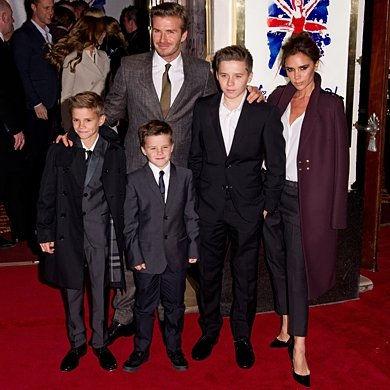 David and Victoria Beckham take their brood to the circus!