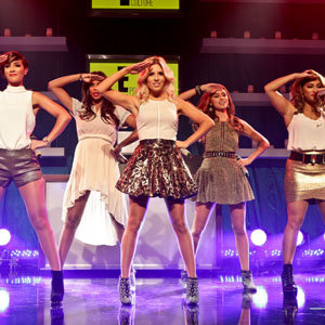 The Saturdays perform at the Golden Globes 2013