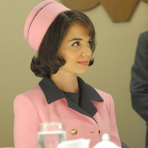 EXCLUSIVE MAKE-UP VIDEO: Find out how Katie Holmes became Jackie O on The Kennedys