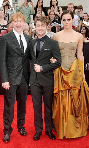 Emma Watson, Daniel Radcliffe and Rupert Grint hit New York for Harry Potter premiere