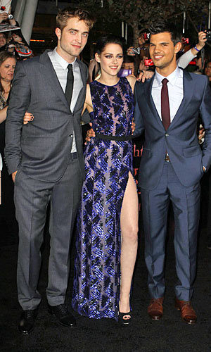 Kristen Stewart, Taylor Lautner and Robert Pattinson sizzle at Twilight: Breaking Dawn premiere