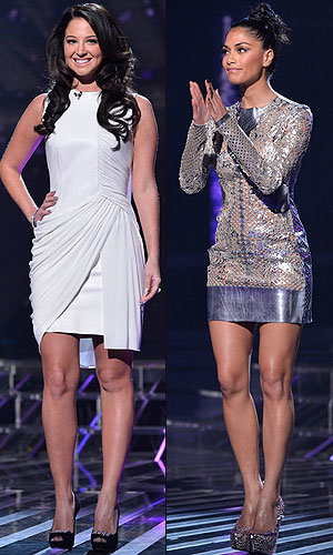 X Factor fashion off: Tulisa Contostavlos and Nicole Scherzinger