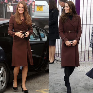 Kate Middleton proves her knack for recycling rather than turning to maternity wear