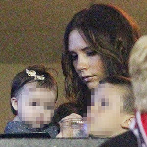 Victoria, baby Harper and the boys watch David Beckham win last LA Galaxy game