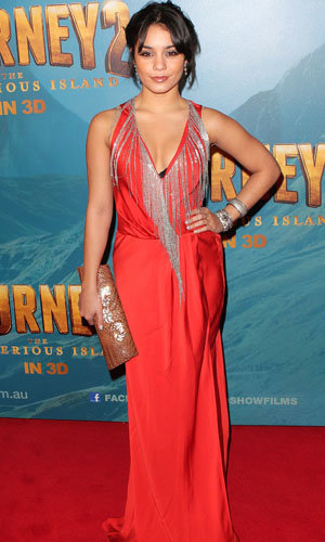 Vanessa Hudgens rocks the red carpet at the Sydney premiere of Journey 2: The Mysterious Island!