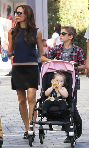 Victoria Beckham enjoys a family day out at LA's Universal City Walk!