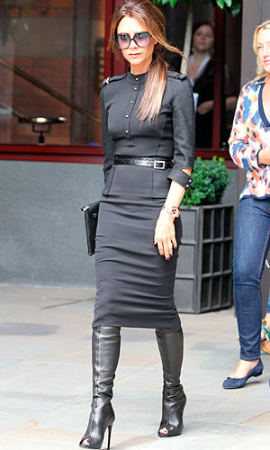 Victoria Beckham dines out at Pizza Express