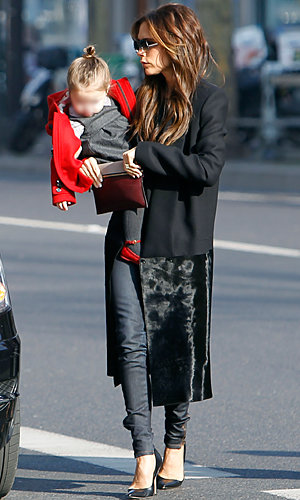 Victoria Beckham and Harper enjoy a girls' day in Paris