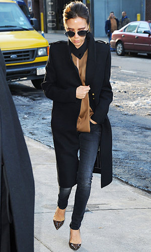 Victoria Beckham shops for her spring wardrobe in London
