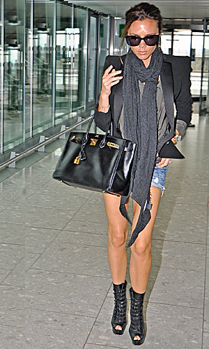 Victoria Beckham's emergency airport fashion