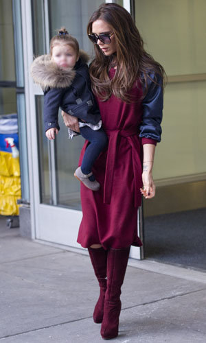 Victoria Beckham recycles outfit to head to New York