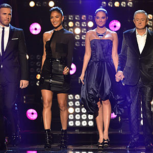 X Factor style-off: Nicole Scherzinger and Tulisa Contostavlos take to the stage