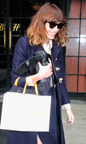 Alexa Chung heads out in New York