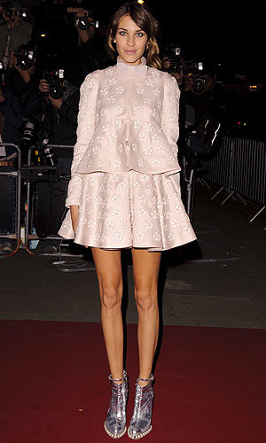 Alexa Chung in Valentino Couture with a twist!