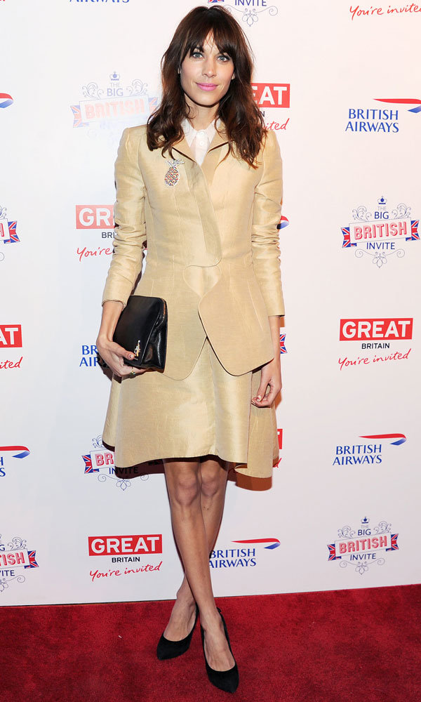 Alexa Chung leads the style parade at the opening of The Big British Invite