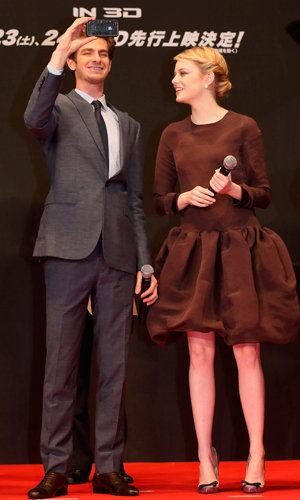 Andrew Garfield reveals all about relationship with Emma Stone as the pair wow at The Amazing Spider-Man premiere!