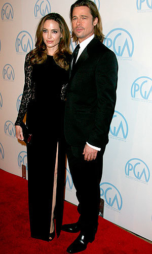 Brad Pitt and Angelina Jolie look loved-up at the Producer's Guild Awards!