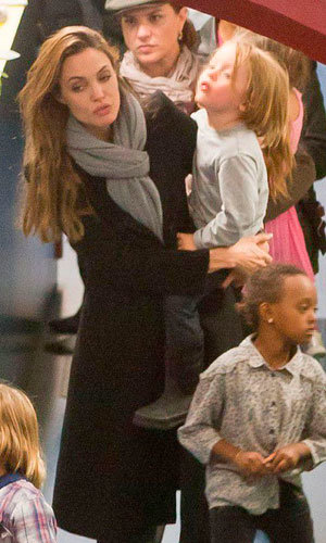 SEE PICS: Angelina Jolie takes the kids shopping in Budapest!