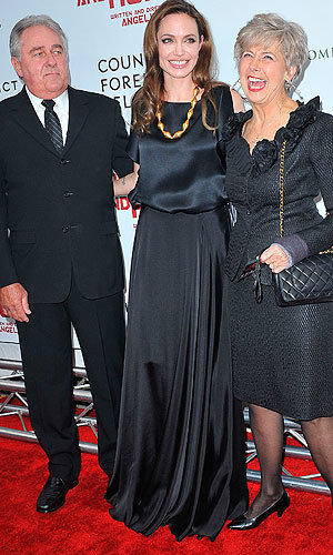 Angelina Jolie hangs out with Brad's parents at premiere of her directorial debut The Land Of Blood And Honey