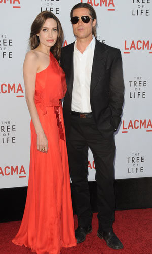 Brad Pitt and Angelina Jolie go super glam for the premiere of The Tree Of Life in LA