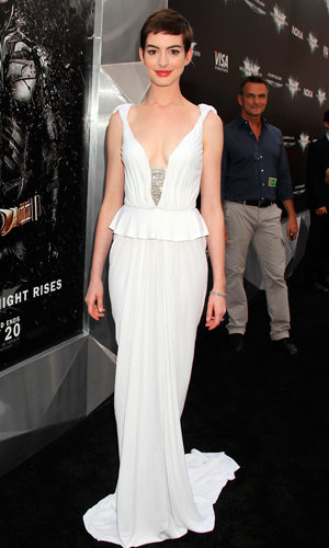 Anne Hathaway and Marion Cotillard wow in white at The Dark Knight Rises premiere!