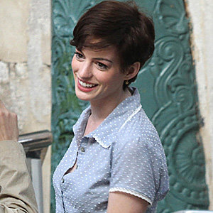 Anne Hathaway goes cropped for new film One Day