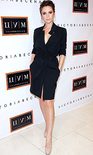 Victoria Beckham wows as she launches her clothing line in Moscow