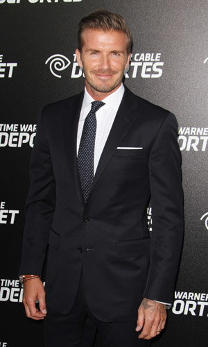 David Beckham suits up at Time Warner's SportsNet launch